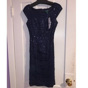 RALPH LAUREN NAVY BLUE DRESS SIZES 4 & 6 AVAILABLE